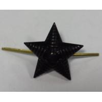 Звезда 20 мм металл иссиня-черная рифленая