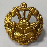 Эмблема петличная инженерные войска с венком золото полиамид