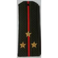 Погоны общевойсковые с вышитыми золотом звездами старший лейтенант