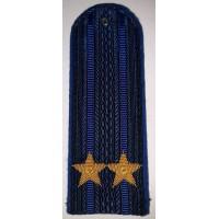 Погоны юстиции повседневные вышитые золотом звезды подполковник