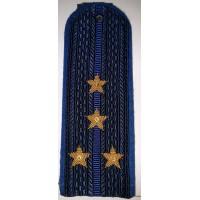 Погоны юстиции с вышитыми золотом звездами капитан нового образца
