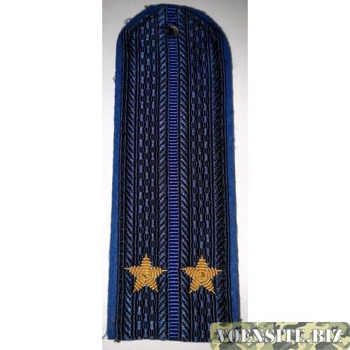 Погоны юстиции с вышитыми золотом звездами лейтенант нового образца