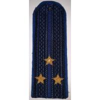 Погоны юстиции повседневные вышитые золотом звезды старший лейтенант