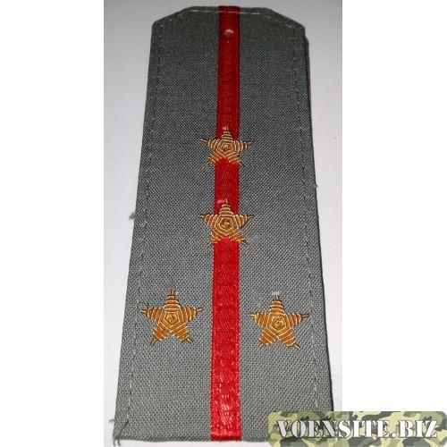 Погоны Вооруженных сил с вышитыми золотом звездами сорочечная ткань капитан