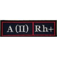 Полоса Полиция Группа крови А (II) Rh + кр.кант вышитая