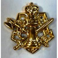 Эмблема петличная ФСИН без венка золото полиамид