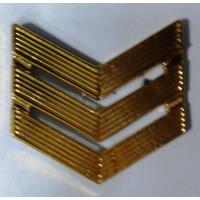 Знак различия сержант полиамид  золото