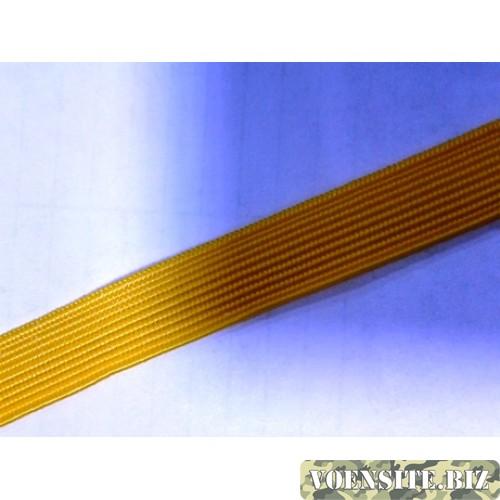 Галун желтого цвета 1 м ширина 10 мм