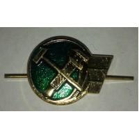 Эмблема петличная железнодорожные войска