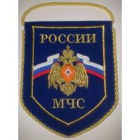 Вымпел вышитый МЧС России средний