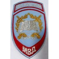 Шеврон Полиция образовательные учреждения на рубашку голубой вышитый