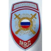 Шеврон Полиция Охрана общественного порядка на рубашку голубой вышитый
