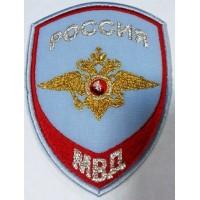 Шеврон Внутренняя служба Полиции на рубашку голубой вышитый