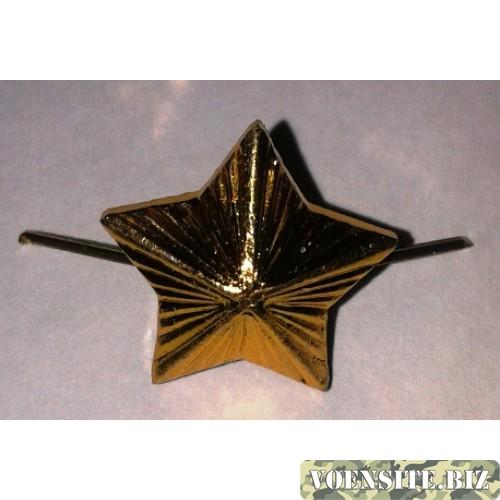 Звезда 16мм металл золото казачья