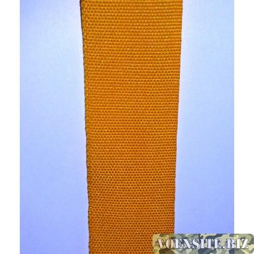 Галун желтого цвета 1 м ширина 30 мм
